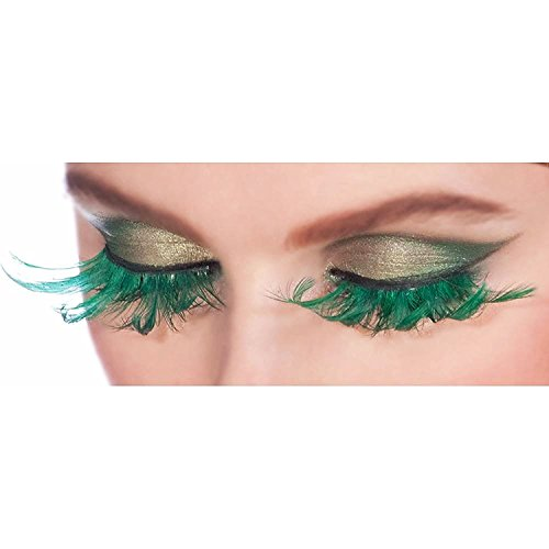 Fairy Green Feather Lashes, 2 pack (Green Fairy Dress)