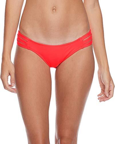 Eidon Women's Low Rider Mid Rise Bikini Bottom Swimsuit, Flavors Fireball, Small