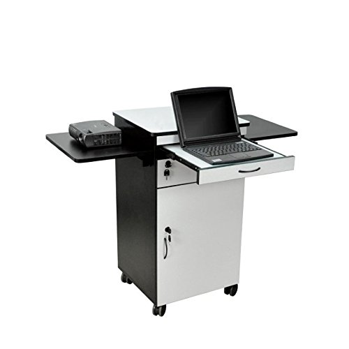 Luxor / H. Wilson WPSDD3 Mobile Multimedia Workstation Stand with Locking Cabinet ()