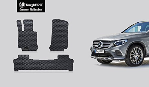 - ToughPRO Floor Mats Set (Front Row + 2nd Row) Compatible with Mercedes-Benz GLC - All Weather - Heavy Duty - (Made in USA) - Black Rubber - 2016, 2017, 2018, 2019, 2020