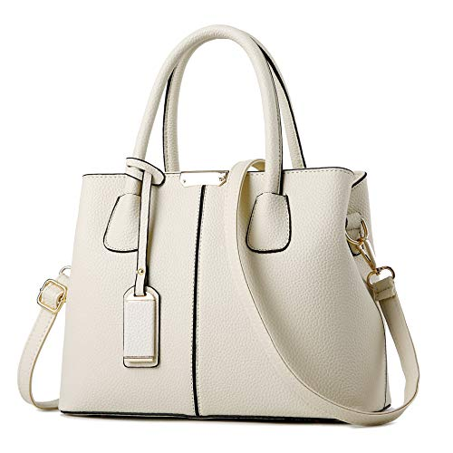 White Satchel Handbags - 3