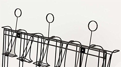 Displays2go Wall Mounted Brochure Rack, 24-Pocket, 4