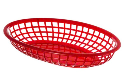 Update International (BB96R) Oval Fast Food Baskets [Set of (Waiter In French)