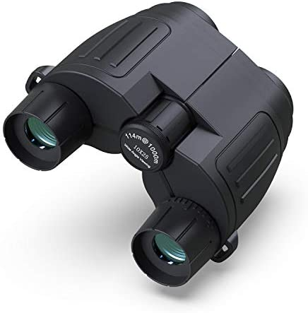 HiGoing 10×25 Binoculars for Adults Kids, Compact Folding High Powered HD Binoculars with Clear Weak Night Vision for Outdoor, Hunting, Bird Watching, Travel, Stargazing, Concerts and Sports