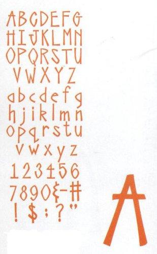 Sizzix Sizzlits 35 Piece Alphabet Set Aphrodite (Sizzlit Alphabet Set)