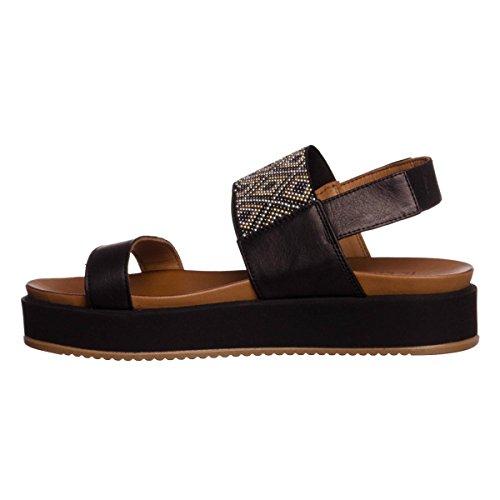 INUOVO 7260 Negro zapatos sandalias de plataforma NEGRO