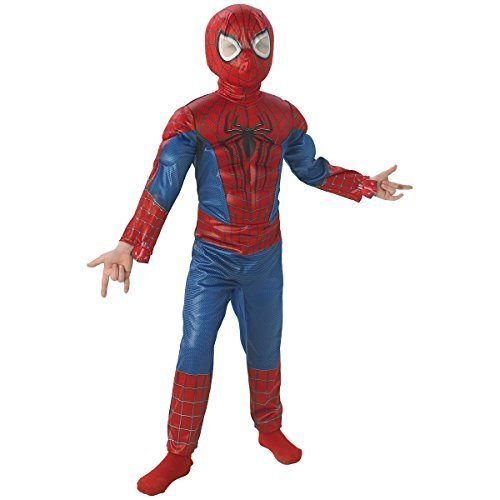 Spider Man 3 Muscle Costumes (The Amazing Spider-man 2, Deluxe Spider-man Costume, Child Small)
