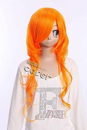 W de 273 One Piece Nami N. 2 años Cosplay Naranja 65 cm peluca Anime