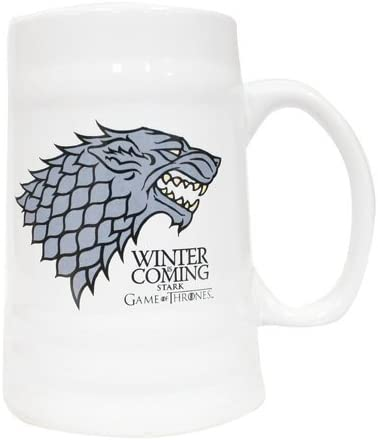 Game of Thrones SDTSDT27362 - Jarra cerámica con diseño Winter Is Coming Stark (SD Toys SDTSDT27362) - Jarra Cerámica Winter is Coming Stark