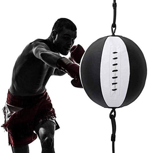 ボクシングパンチングボールトレーニングスピードボールフィットネスボディビルディングホームジムエクササイズアジリティサンダレザー大人用キッズ
