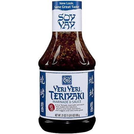 Soy Vay Veri Veri Teriyaki Marinade and Sauce, 21 Fluid Ounce - 6 per case.