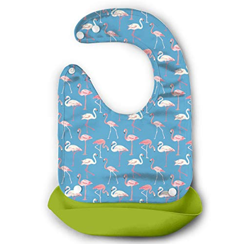 Price comparison product image Pink-and-blue-flamingo Snaps Baby Bibs
