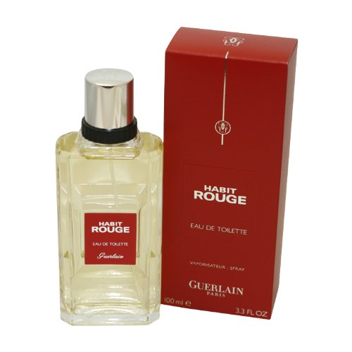 Habit Rouge By Guerlain For Men. Eau De Toilette Spray 3.3 Oz (Rouge Perfume Vintage)