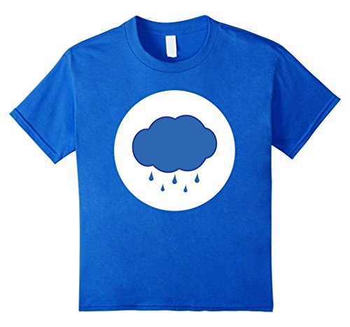 Kids Rain Cloud Halloween Easy Costume Group T-Shirt 4 Royal (Easy Group Halloween Costumes For Girls)