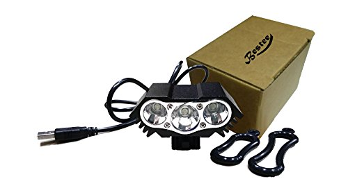 Bestee 10000 Lm 3 x CREE T6 LED 4 Modes Bicycle Lamp Bike Light Headlight Cycling Torch