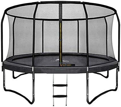 MALATEC Cama elástica de jardín con Red de Seguridad y Escalera HQ Ø 305/360 cm Outdoor Trampolin 2211: Amazon.es: Jardín