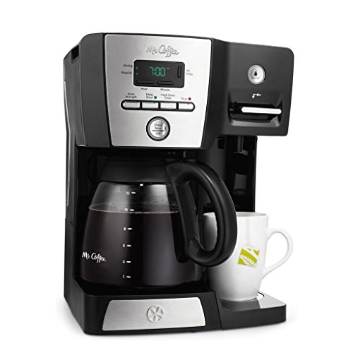 Mr. Coffee BVMC-DMX85 - 12-Cup Programmable Coffeemaker with Integrated Hot Water Dispenser - - Hot Dispenser Water Coffee
