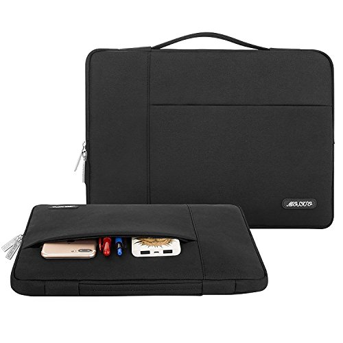 MOSISO Laptop Sleeve Only Compatible with MacBook 12 inch A1534 with Retina Display 2017/2016/2015 Release, Polyester Multifunctional Briefcase Carrying Bag, Pink