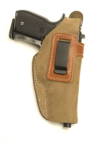 Glock 19, Glock 23 Concealed Carry Suede IWB - Inside The Pants Clip Pistol Holster by Cebeci Arms Inside Pant Suede Pistol Holster