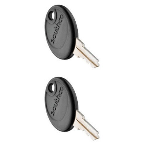 (Southco PK-10-10-05-KR001, Pair of KR001 Keys, Black Plastic Head, for RV, Motorhome, & Boat Locks (Pack of 2))