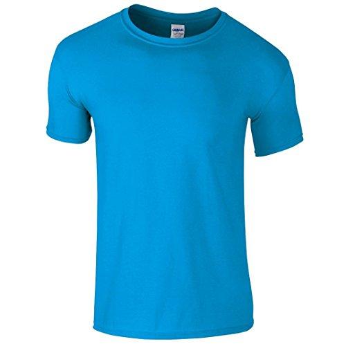 Gildan SoftstyleTM adultos hilado y T-Shirt azul zafiro XXL