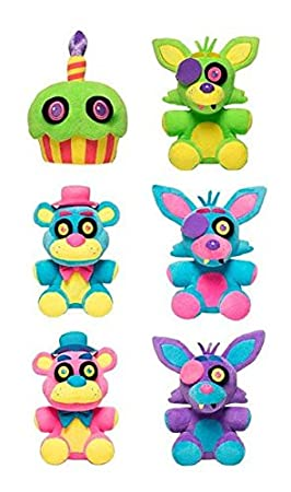 Five Nights at Freddys Blacklight Plush Figure 18 cm Display (6) Funko Peluches