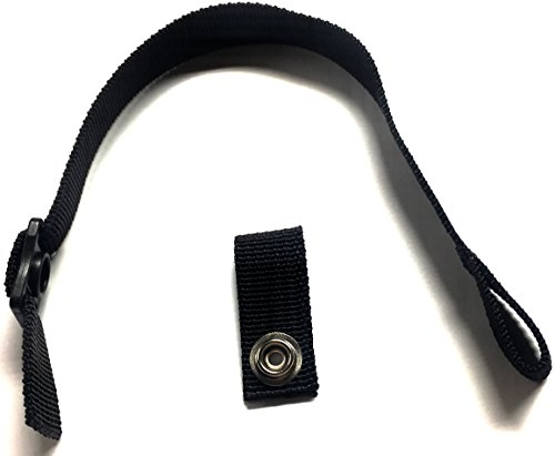Replacement Chin Strap - Hockey Helmet Chin Strap with Single Snap (Black)