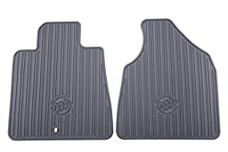 GM Accessories 22890385 Front All-Weather Floor Mats in Titanium with Deep Rib and Tri-Shield Logo