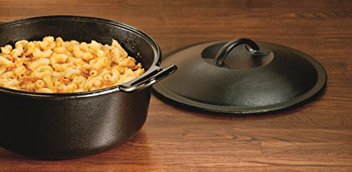 Lodge Pro-Logic 4 Quart Cast Iron Dutch Oven. Pre-Seasoned Pot with Self-Basting Lid and Easy Grip Handles by Lodge (Image #3)