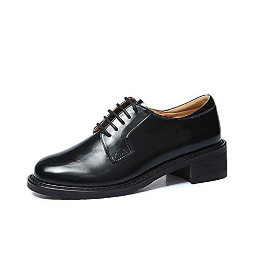 T-july Zapatos De Moda Para Mujer Oxford - Zapatos Cómodos De Tacón Bajo Con Punta Redonda