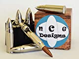 Whiskey Stones Bullets with Revolver Base Set of 6 XL Reusable ICE CHILLERS for Whiskey OR Wine Made with FDA Approved Food Grade Stainless Steel Bonus:Bullet Bottle Opener Key Chain with Each Set