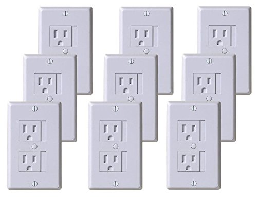 KidCo Universal Outlet Cover, White, 9 Pack