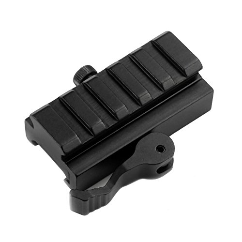 (Mizugiwa 5-Slot QD Lever Mount Adaptor and Riser Medium Profile Black)