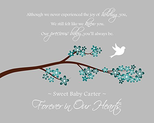 Miscarriage Gift, Memorial Remembrance, In Memory of Baby, Sympathy Gift, Pregnancy Loss - Art Print
