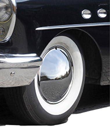Universell Passendes Radzierblendenset 4 Stück 14 Zoll Moon Caps Geschlossen Chrom Glänzend Auto