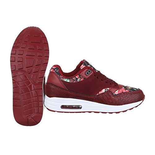 Ital-Design - Zapatillas de Material Sintético para mujer Rojo