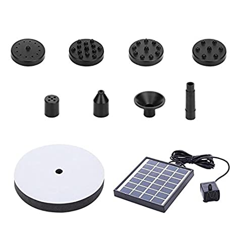Amazon com: Sala-Store - 7V 2W Solar Water Pump Foundtain