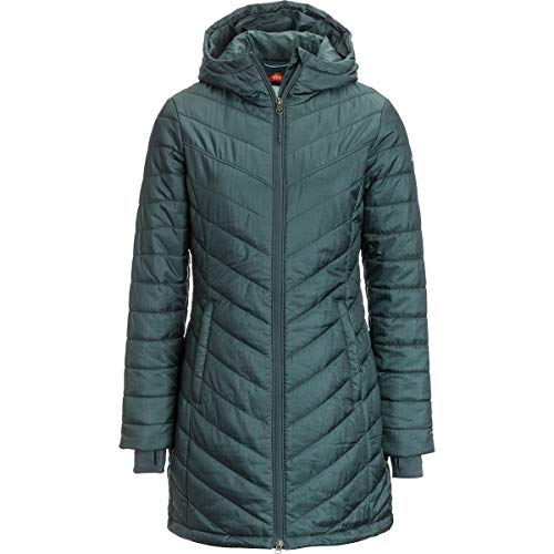 Puffer Jacket Coat - Columbia Womens Morning Light II Omni Heat Long Jacket Coat Puffer (XS, Teal)