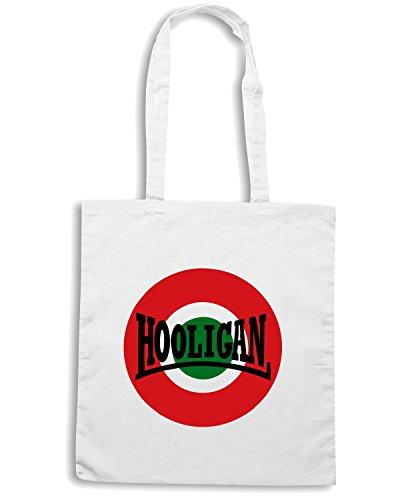 T-Shirtshock - Bolsa para la compra OLDENG00138 italia hooligan Blanco