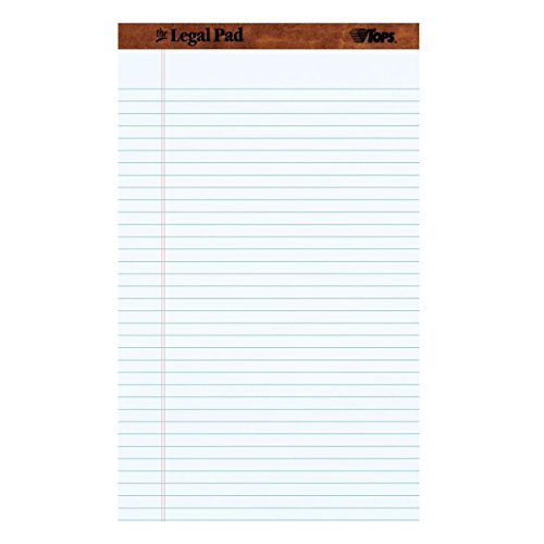 Note Pad. The Legal Ruling Pad Perforated In White Chart Paper. Best For School, Office, Home, Study, Notes, Educational, Group Activities. 50 SheetsPad 12 PadsPack (8.5x14, Everyday) by Note-Pad