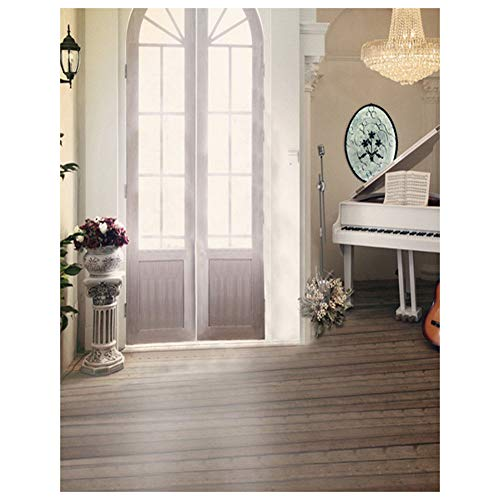 0.9x1.5m 3D Vision Wall Window Floor Interior Room Scene for Wedding Photo Booth Model Photography Backdrops Indoor - Chandelier Wheat Light 4