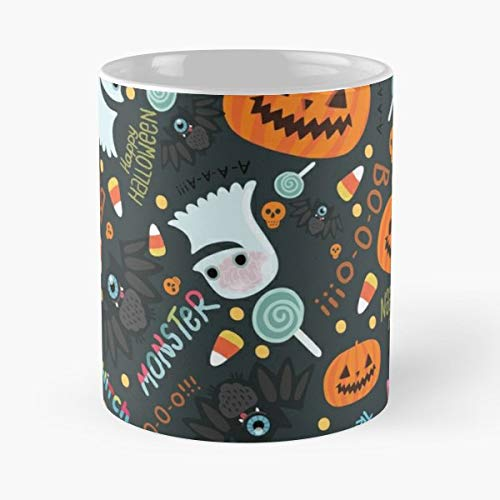 Cute Pattern Halloween Decoration - Handmade Funny 11oz Mug Best Holidays Gifts For Men Women Friends.]()