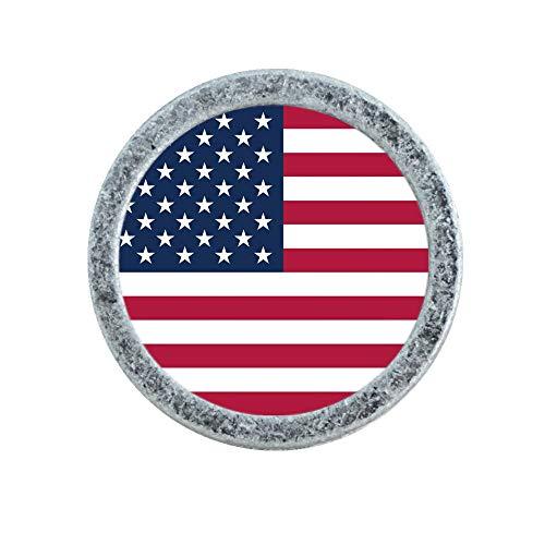 LBFEEL Custom USA Flag Knob Drawer Pull Handle Personalized Handmade American Flag Dresser Knob Kitchen Cabinet Knob Hardware (Antique Silver)