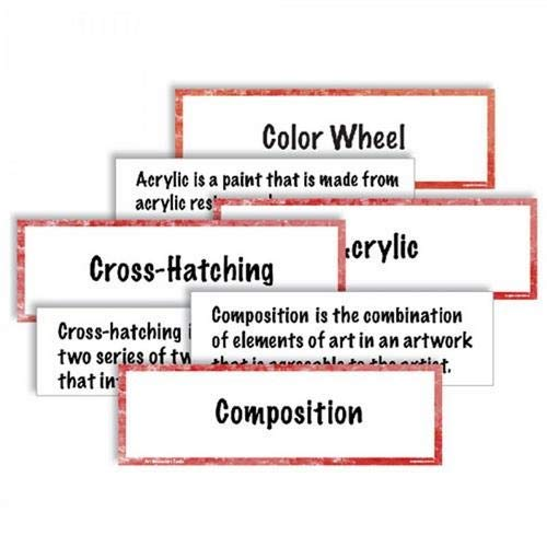American Educational Products CP1812,''Art Vocabulary Cards'' Set, Pack of 15 Sets