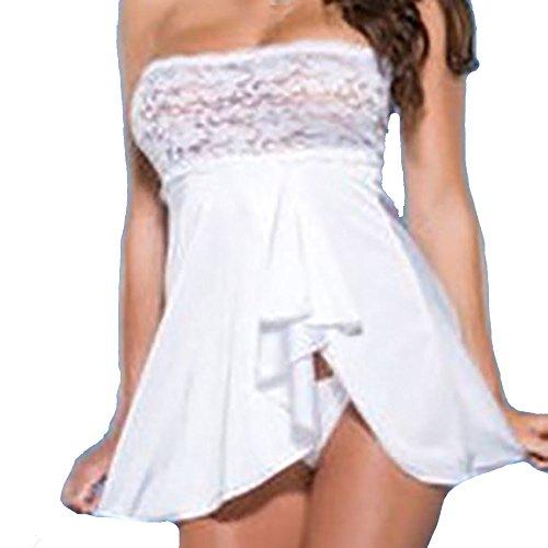 Nuisette G Morchan❤️femmes Sous Lingerie Poitrine Robe Wrap Dentelle vêtements string Blanc En qC5Cczn