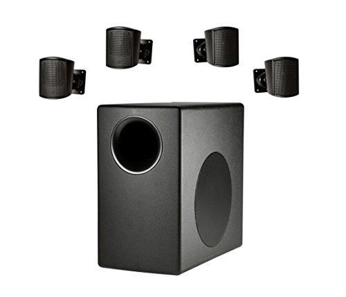 Pa System Profile 1 - JBL C50PACK Surface Mount Subwoofer & Mini-Satellite Loudspeaker System, Black