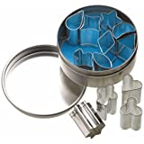 MINI (1.5cm) METAL COOKIE OR ICING CUTTERS IN STORAGE TIN - SET OF 12