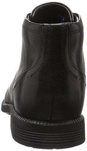 Rockport Dressport Modern Chukka, Botines para Hombre Negro - negro (negro piel)