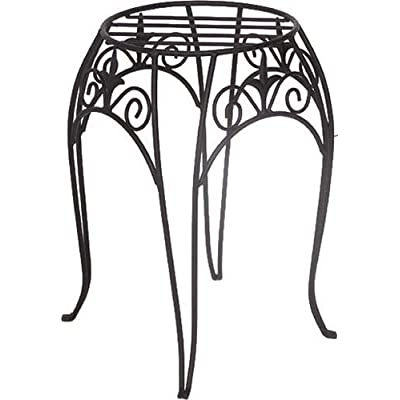 Panacea 89175 Plant Stand with Finial, 15-Inch, Black : Garden & Outdoor