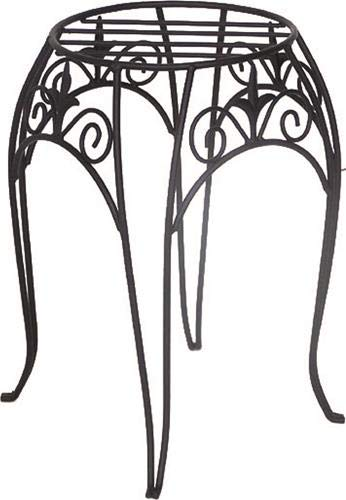 (Panacea 89175  Plant Stand with Finial, 15-Inch, Black)